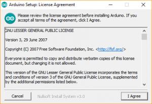 Arduino IDE License Agreement