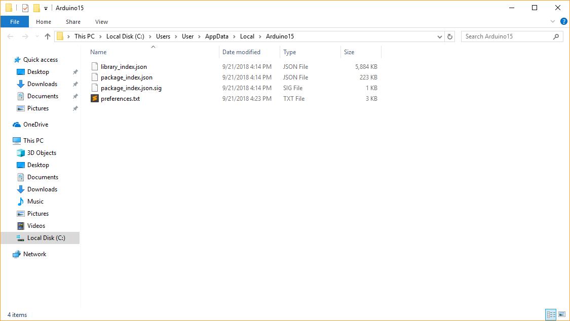 Lokasi Preferences Folder